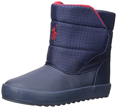 Polo Ralph Lauren Kids Snow Boot They are actual Polo boots and very warm and easy to put on a small child. Read more. Helpful. Not Helpful. Comment Report abuse. See all 5 reviews. Write a customer review. Customer images. See all customer images. Search customer reviews. Search/5(5).