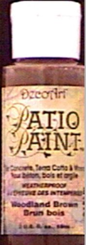 DecoArt Patio Paint 2-Ounce Woodland Brown Acrylic Paint (Patio Paint Decoart 2 Oz)