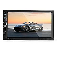 Celendi 7 Inch Double 2 Din Touch Screen Bluetooth Car Stereo Video Audio MP5 Player Car GPS Navigation Support FM Radio/USB/TF/Aux In/Hands-free calls/Rear View Camera Input