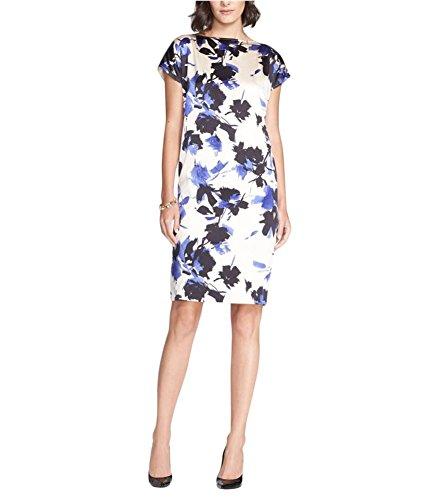 St. John Collection Desert Floral Print Stretch Silk Charmeuse Dress Size 6
