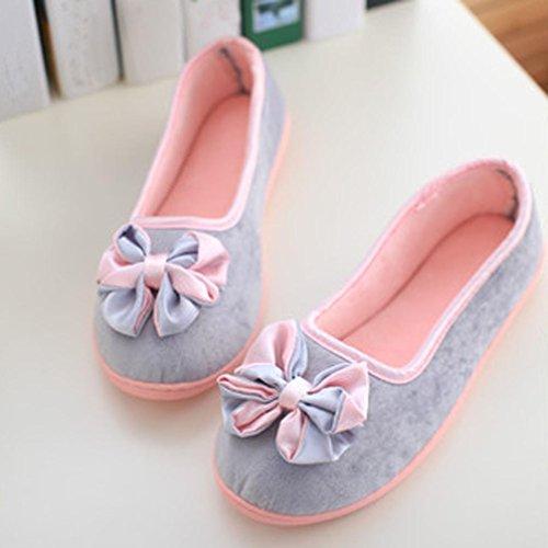 Sagton Zapatillas De Casa Para Mujer Empalmadas Calientes Mujeres Embarazadas Zapatos Zapatos De Yoga Gris