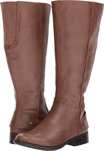 LifeStride Women's Xandywc Equestrian Boot, Dark Tan