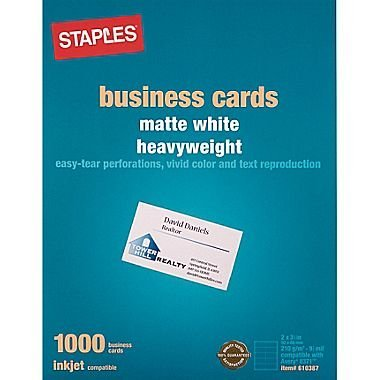 Amazon staples inkjet business cards 2 x 3 12 matte staples inkjet business cards 2quot x 3 12quot matte colourmoves