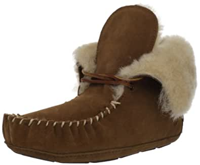 ACORN Women's Sheepskin Moxie Bootie Slipper,Chestnut,6 M US