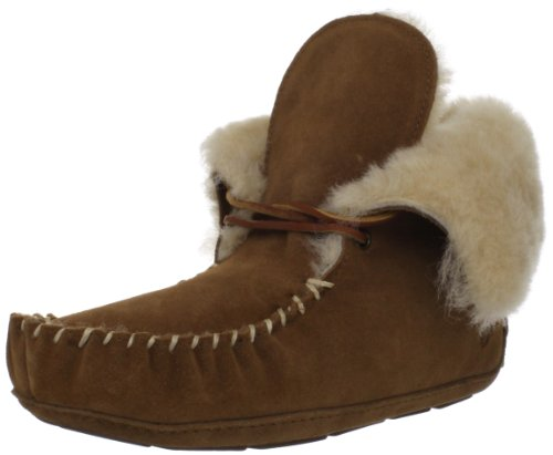 ACORN Women's Sheepskin Moxie Bootie Slipper,Chestnut,7 M US by Acorn
