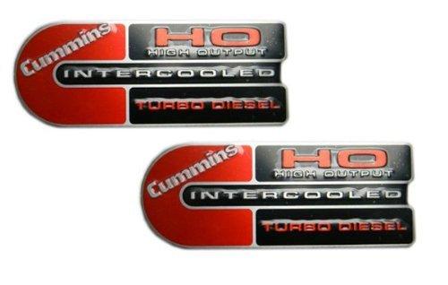 "Cummins High Output Intercooled Turbo Diesel Emblems - 5.5"" Long Pair"