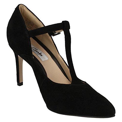 Clarks Habillé Femme Chaussures Dinah Dolly En Daim Noir