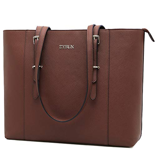 Laptop Tote Bag for Women,15.6 Inch Laptop Bags Professional Briefcase Multiple Function Handbags with Adjustable Handles for Business Casual