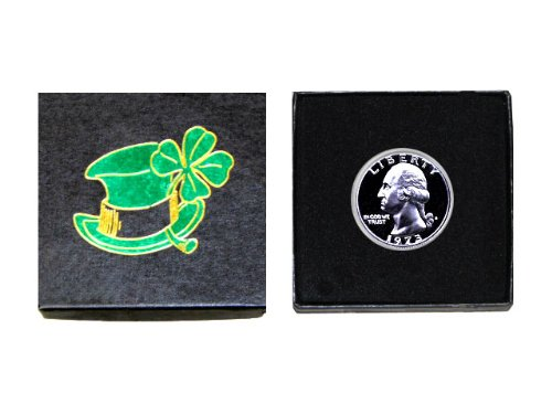 """My Lucky Coin – 1973 S Washington Quarter – Gem Proof Condition – In a """"Luck of the Irish"""" Gift Box"""
