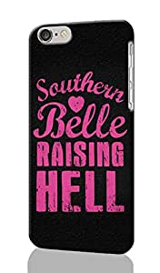 Southern Belle Raising Hell Pattern Image - Protective 3d Rough Case Cover - Hard Plastic 3D Case - For iPhone 6 - 4.7
