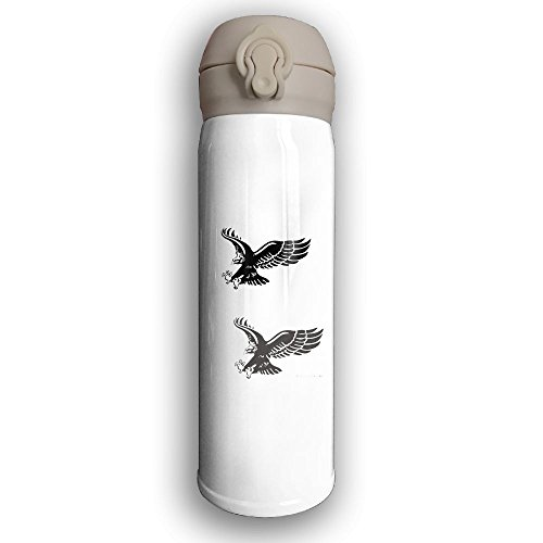 17oz Double Wall Vacuum Cool Insulation Stainless Steel Water Bottle Holder Freedom Eagle.PNG Leak - Proof Travel Coffee Mug With Lid,Keeps Cold And Hot by YUC-CP