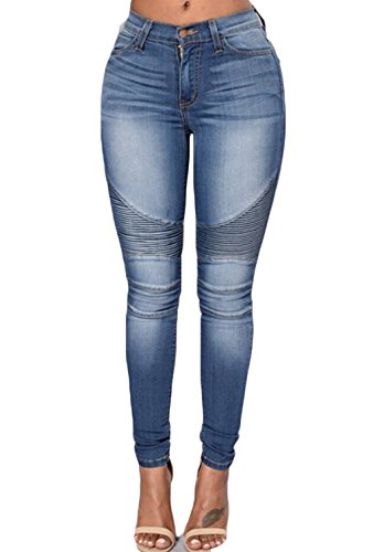 Usgreatgorgeous Women Casual High Waist Destroyed Ripped Distressed Skinny Denim Jeans With Holes  L  31145