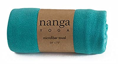 Nanga Yoga Towel - limited time only - Non Slip Dry or Wet, Absorbent Microfiber, Eco Friendly -- Optimal for Hot Yoga, Bikram, Corepower, Pilates - 100% Satisfaction Guarantee