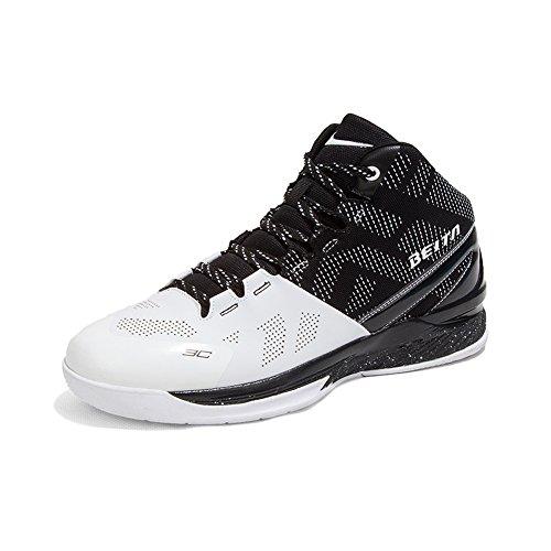 Man Basketbalschoen, Maakt Springen Hoog Qzbeita Comfortabel Ademende Schoen Zwartwit