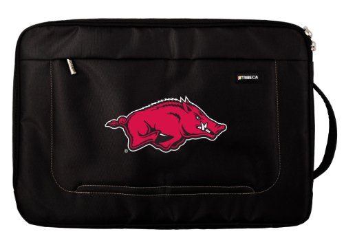 NCAA Arkansas Razorbacks Deluxe Nylon Laptop Sleeve for 15-Inch to 16-Inch Laptop or MacBook Pro