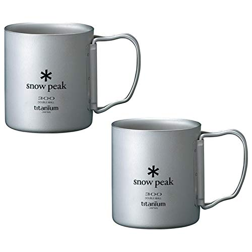 (Snow Peak Titanium Double Wall Cup 300 - 2 Pack)