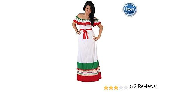Atosa - Disfraz de mujer largo mejicana, M-L (5660): Amazon.es ...