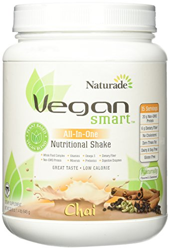 NATURADE VeganSmart All-In One Nutritional Shake 15 Servings Jug Chai
