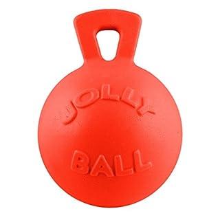 "Jolly Pets Tug-n-Toss - Heavy Duty Chew Ball w/ Handle (Orange, 8"")"