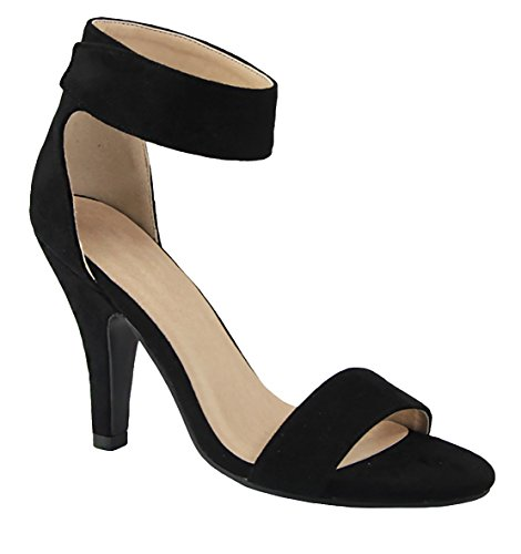 Ankle Heel High Delicious Black Sandal Toe Strap Rosela Open wqXxRfa