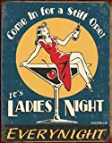 Moore Ladies Night Every Night Distressed Retro Vintage Tin Sign - 13x16 , 13x16
