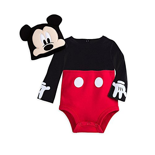 Disney Mickey Mouse Costume Bodysuit Set for Baby Size 18-24 MO Red]()