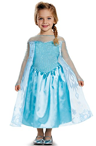 Disguise Elsa Toddler Classic Costume, Small (2T) (Halloween Costume Disney Princess)