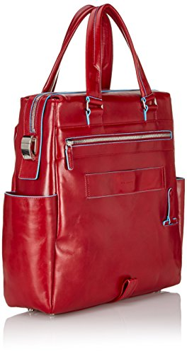 Piquadro CA3146B2 Shopping, Collezione Blu Square, Rosso