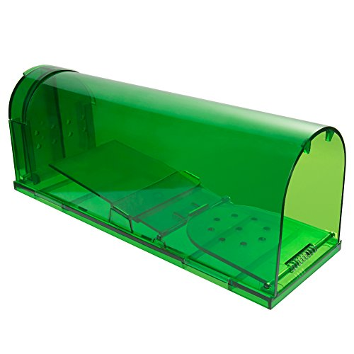 Catcha Larger Size Humane Smart Rat Trap Live Catch and Release chipmunks, rats, rodents, Safe around Children & Pets, Size 9.64 x 3.15 x 3.58
