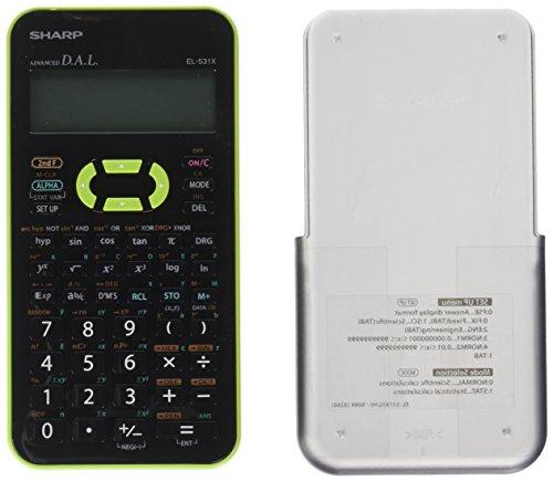Sharp EL-531XBGR Engineering/Scientific Calculator, 5-Pack