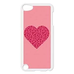 iPod Touch 5 Case White Pink Leopard Heart SU4362191