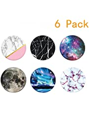 Premium Expanding Phone Socket,Pop Mount Holder for Cellphone Pack 6 (3Marble3Galaxy)