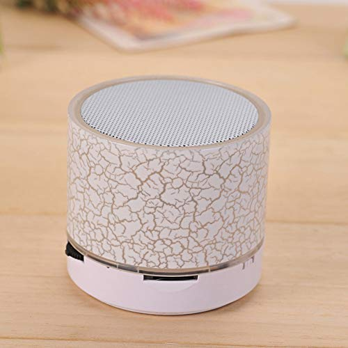 NFY Mini Bluetooth Speaker con lámpara LED, Altavoz inalámbrico subwoofer portátil con luz LED FM TF Entrada USB para el...