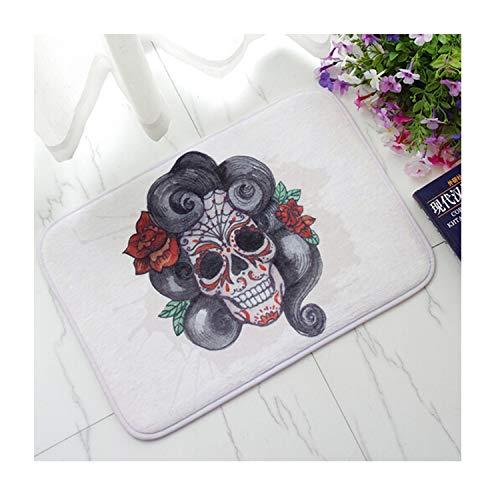 Ivory 05 By Rug (Aokarry Bathroom Accessories Non-Slip Bath Rugs Skull Colorful Skull 05 40x60CM)