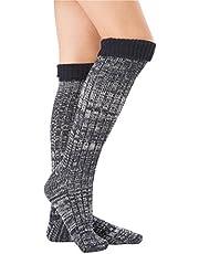 SherryDC Women's Ribbed Knit Knee High Boot Socks Winter Long Leg Warmers Stockings