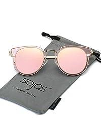 SojoS Lentes De Sol Unisex Vintage Lentes Espejo Polarizadas Protecciòn UV SJ1057