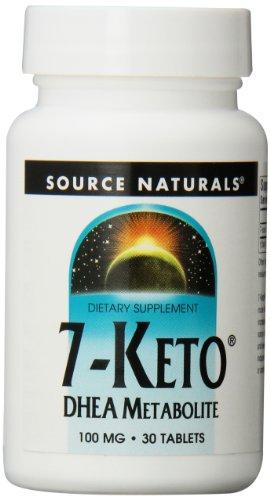 Source Naturals 7-Keto DHEA comprimés, 100 mg, 30 comte