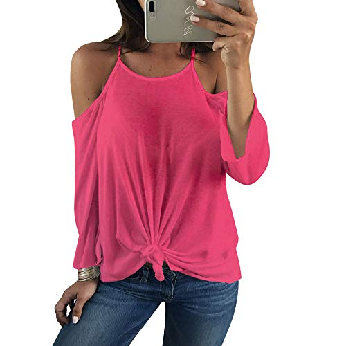 (Clearance Women Tops LuluZanm Long Sleeve Backless Shirt Casual Women Sexy Off Shoulder Blouse Tops)