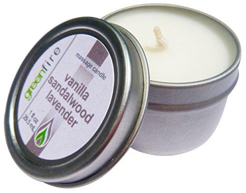 Greenfire Lavender Sandalwood Vanilla Blend All Natural Massage Oil Candle (Size: 1 fluid ounce)