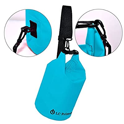 Dry Sack Roll Top Compression Sack Sac Dry Bag 5L Backpack Waterproof Watertight Sling Fanny Pack Floating Lightweight for Kayaking Boating Rafting Fishing Snowboard PVC Tarpaulin blue - by LC Prime® - sports-and-outdoors