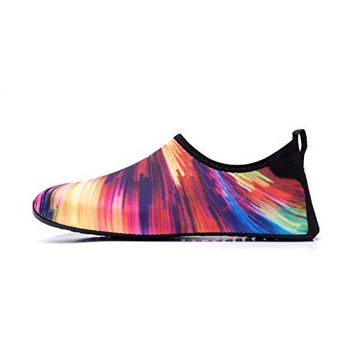 LK Playa Zapatos Agua Agua Soles Zapatos Color de Calzado LEKUNI multicolor de de de Piscina Tw Rápido Natación Secado Respirable de Unisex HFxrwH