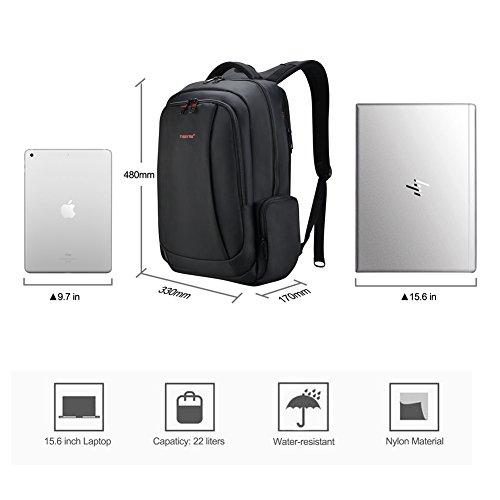 Fubevod Business Laptop Rucksack 15 6 Zoll Notebook Rucksack Herren/Rucksack mit Laptopfach/Laptop Backpack,Schwarz Schwarz-USB