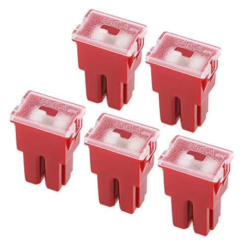 - uxcell Automotive Mini Cartridge Fuse 32V 50A Female Terminal J Case Box for Cars Truck Vehicle 5pcs