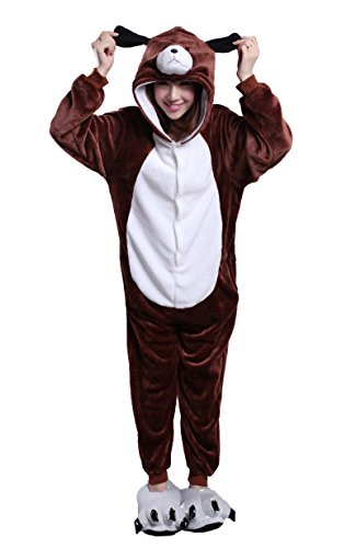 Honeystore Unisex Dog Pajamas One piece Animals Halloween Costumes Cosplay Pjs XL