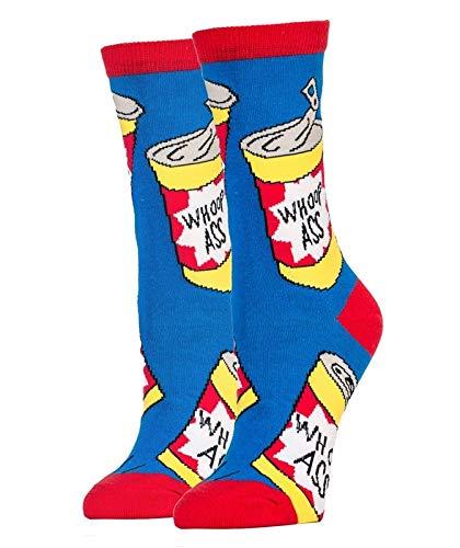 Oooh Yeah! Socks, Women's Cotton Crew Socks (Whoop Ass)