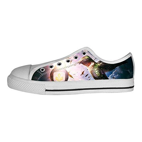 Lacci Le I Canvas Da Tela Di Hummingbird Scarpe Sopra Delle Ginnastica Men's Shoes Custom Alto In HpxXwSPw