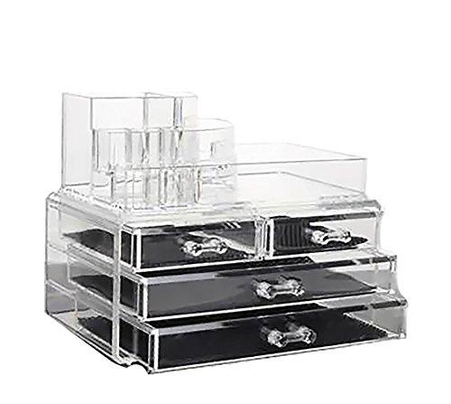 lry & Cosmetic Storage Organizer Boxes Two Pieces Set #2 (Lk Jewelry)