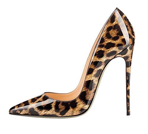 Tacco A Heels Da Classico A Donna Spillo Col Edefs 12cm leopard High Scarpe HwqwE8U