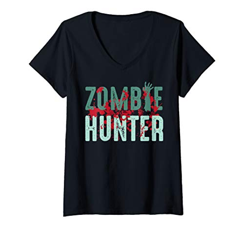 Womens Zombie Hunter Halloween Art Cute Deadly Deer