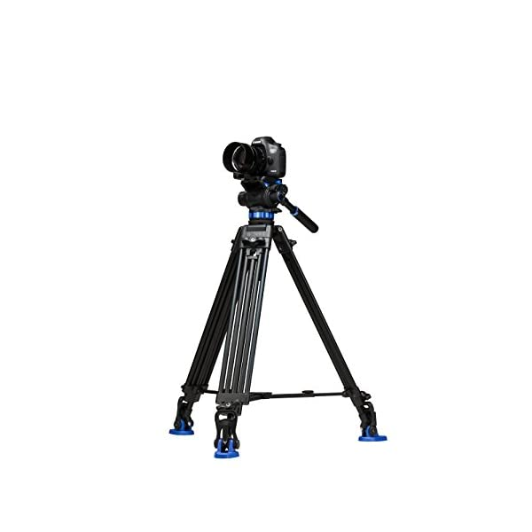 RetinaPix Benro S7 Twin Leg Aluminum Video Tripod Kit